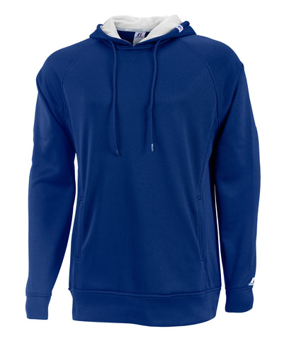 Russell Athletic Men's Tech Performance Fleece Hood - Navy/White