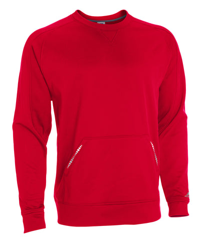 Russell Athletic Men's Tech Performance Fleece Crew - True Red/Steel