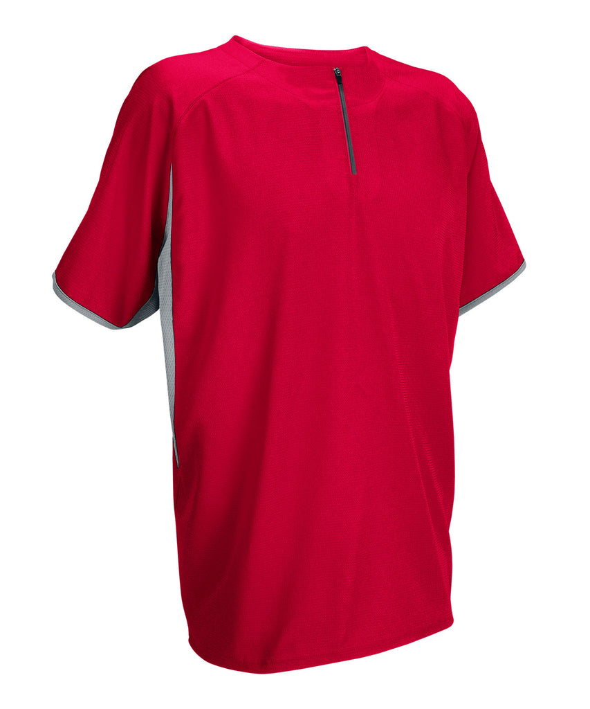 Russell Athletic Men's Short Sleeve Pullover - True Red/Baseball Grey Selected