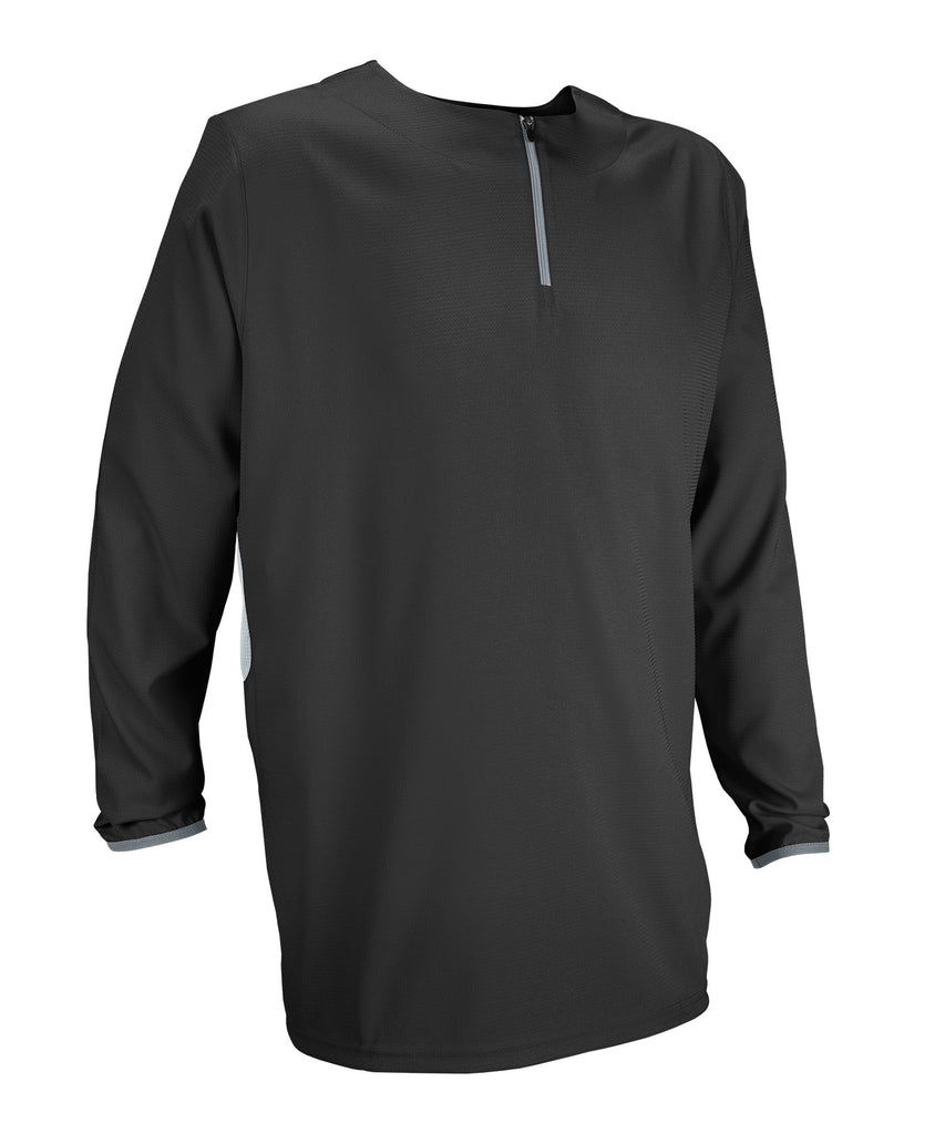Russell Athletic Men's Long Sleeve Pullover - Black/Baseball Grey Selected