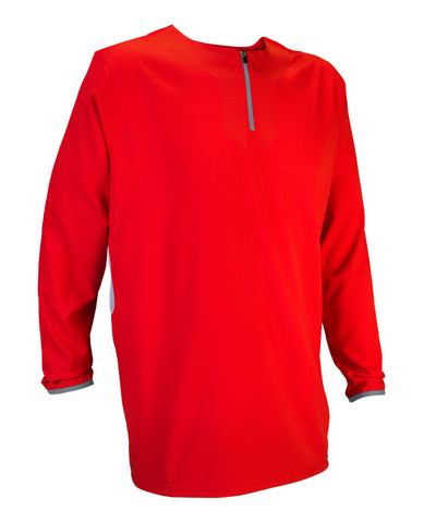 Russell Athletic Men's Long Sleeve Pullover - True Red/Baseball Grey