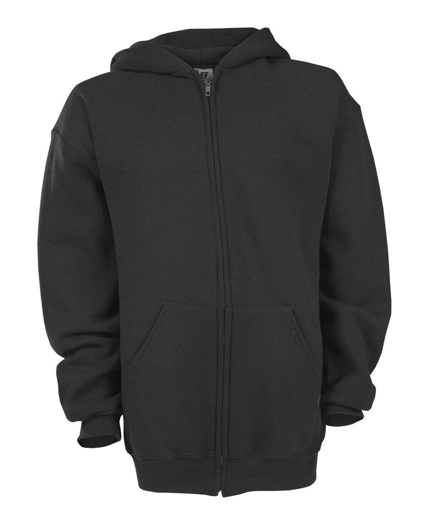 Russell Athletic Youth Dri-Power Fleece Full Zip Hoodie - Black Selected