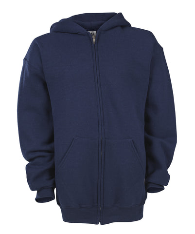 Russell Athletic Youth Dri-Power Fleece Full Zip Hoodie - J Navy