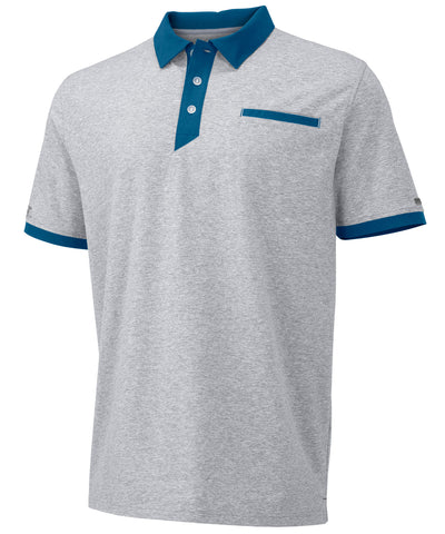 Russell Athletic Men's Elite Polo - Oxford/Cerculean Blue