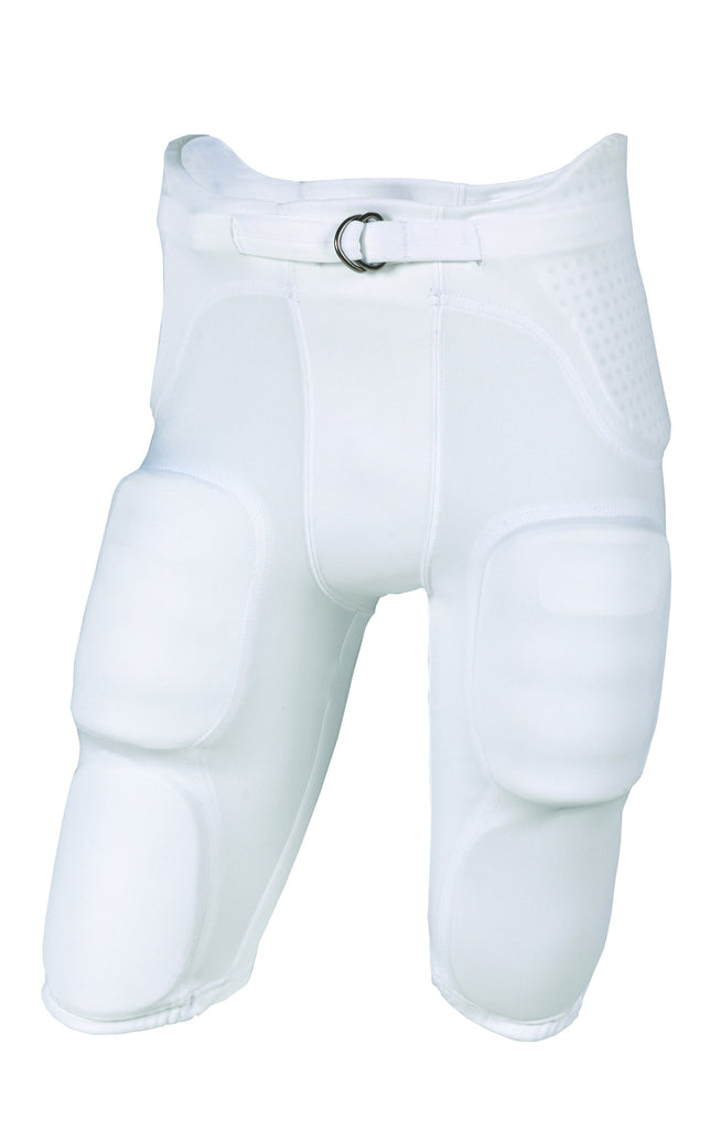 Russell Athletic Men's Integrated 7 Piece Pad Football Pants - White Selected
