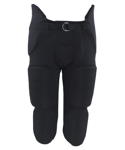 The Russell Athletic Men's Integrated 7-Piece Pad Football Pants are constructed with hip, spine, knee and thigh pads.