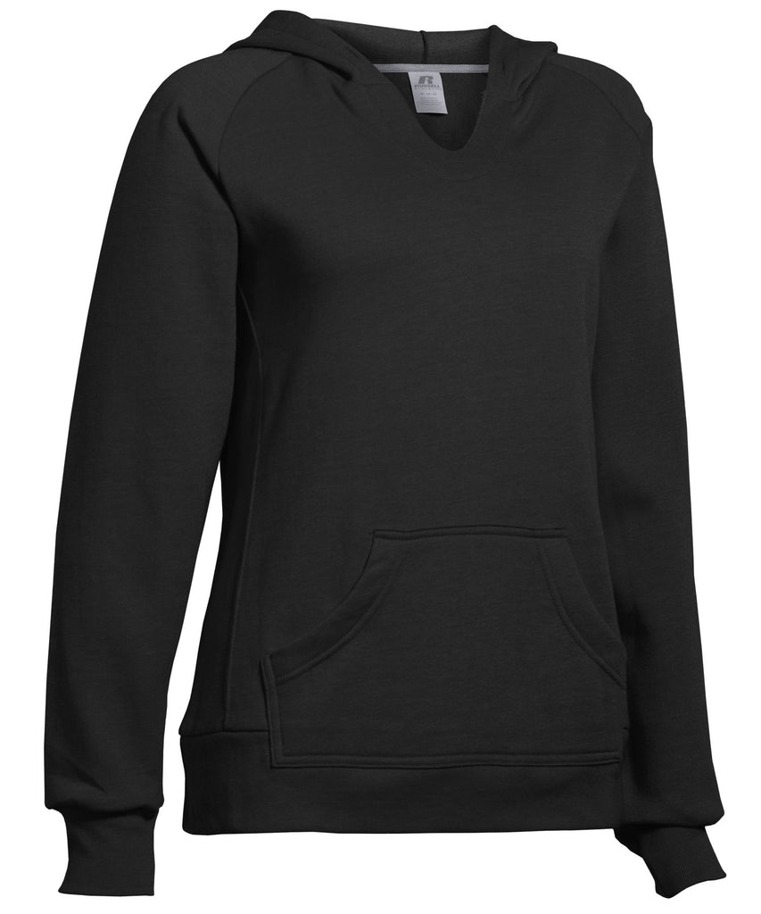Russell Athletic Women's Fleece Pullover Hoodie - Black Selected