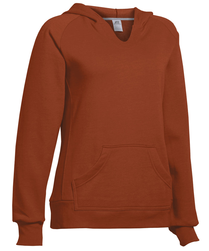 Russell Athletic Women's Fleece Pullover Hoodie - Texas Orange Selected