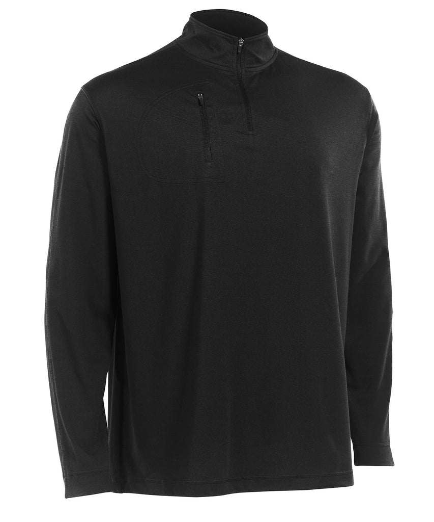 Russell Athletic Men's Stretch Performance 1/4 Zip Pullover - Black Selected