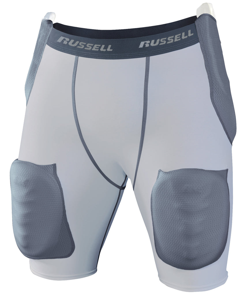 Russell Athletic Youth Football 5-Piece Intergrated Girdle - Hip, Tail and Thigh Padding Selected