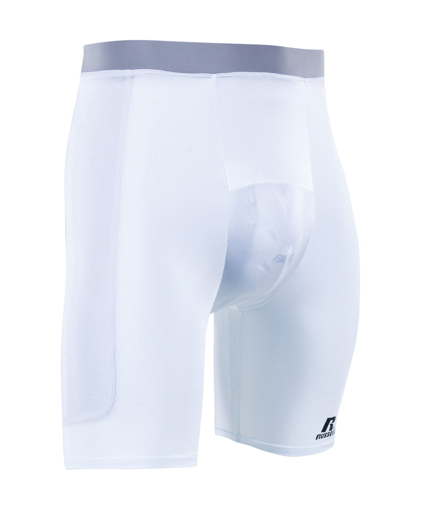 Russell Athletic Men's Dual-Layered  Sliding Shorts with Cup Pocket Selected