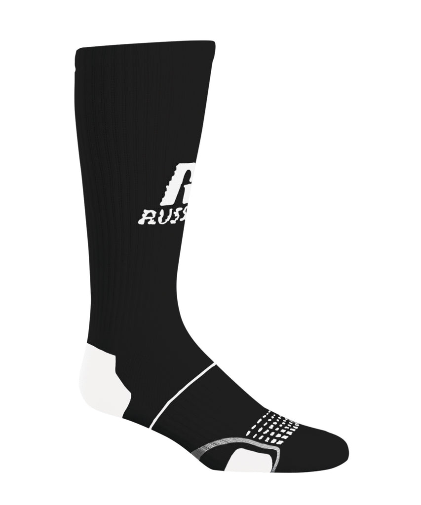 Russell Athletic Adult Crew Socks - Black Selected
