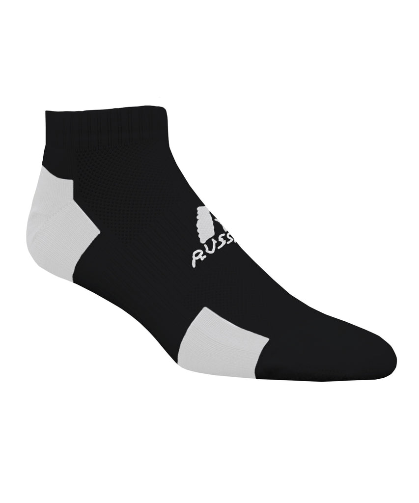 Russell Athletic Adult Low-Cut Ankle Socks - Black/White Selected