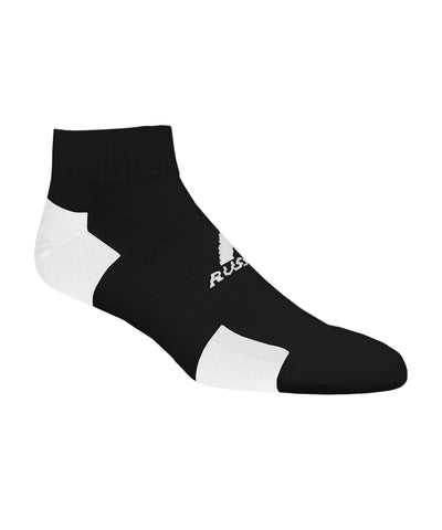 Russell Athletic Adult Quarter Ankle Socks - Black/White