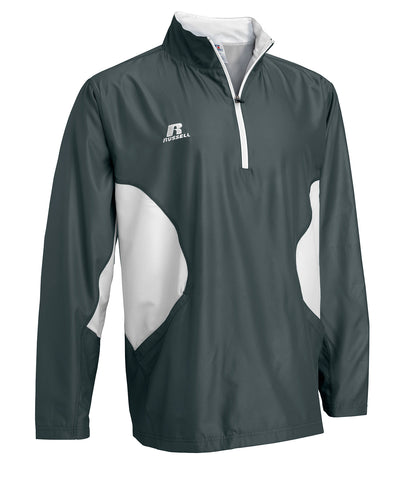 Russell Athletic Men's Gameday 1/4 Zip Jacket - Stealth/White