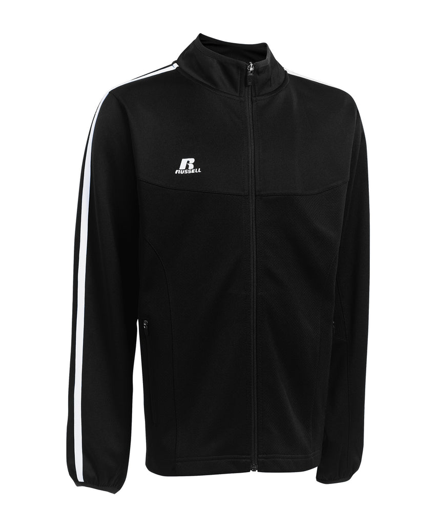 Russell Athletic Youth Team Gameday Warmup Jacket - Black/White Selected