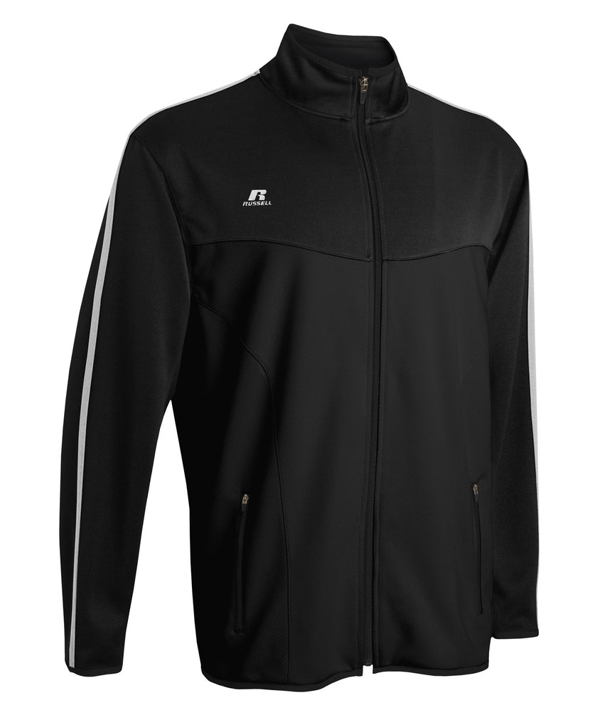 Russell Athletic Men's Gameday Full Zip Jacket - Black/White Selected
