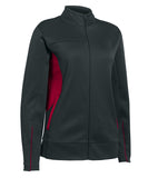 Russell Athletic Women's Tech Fleece Full Zip Jacket - Stealth/True Red