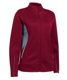 Russell Athletic Women's Tech Fleece Full Zip Jacket - Cardinal/Steel
