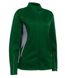 Russell Athletic Women's Tech Fleece Full Zip Jacket - Dark Green/Steel