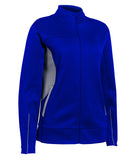 Russell Athletic Women's Tech Fleece Full Zip Jacket - Royal/Steel