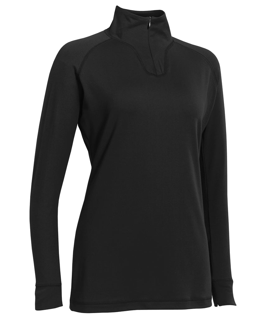 Russell Athletic Women's Stretch Performance 1/4 Zip Pullover - Black Selected