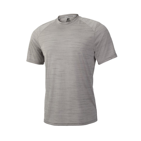Russell Athletic Men's Striated Performance Tee - Rock