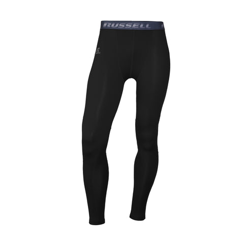 Russell Athletic Men's Performance Tight Fit Compression Tights - Black
