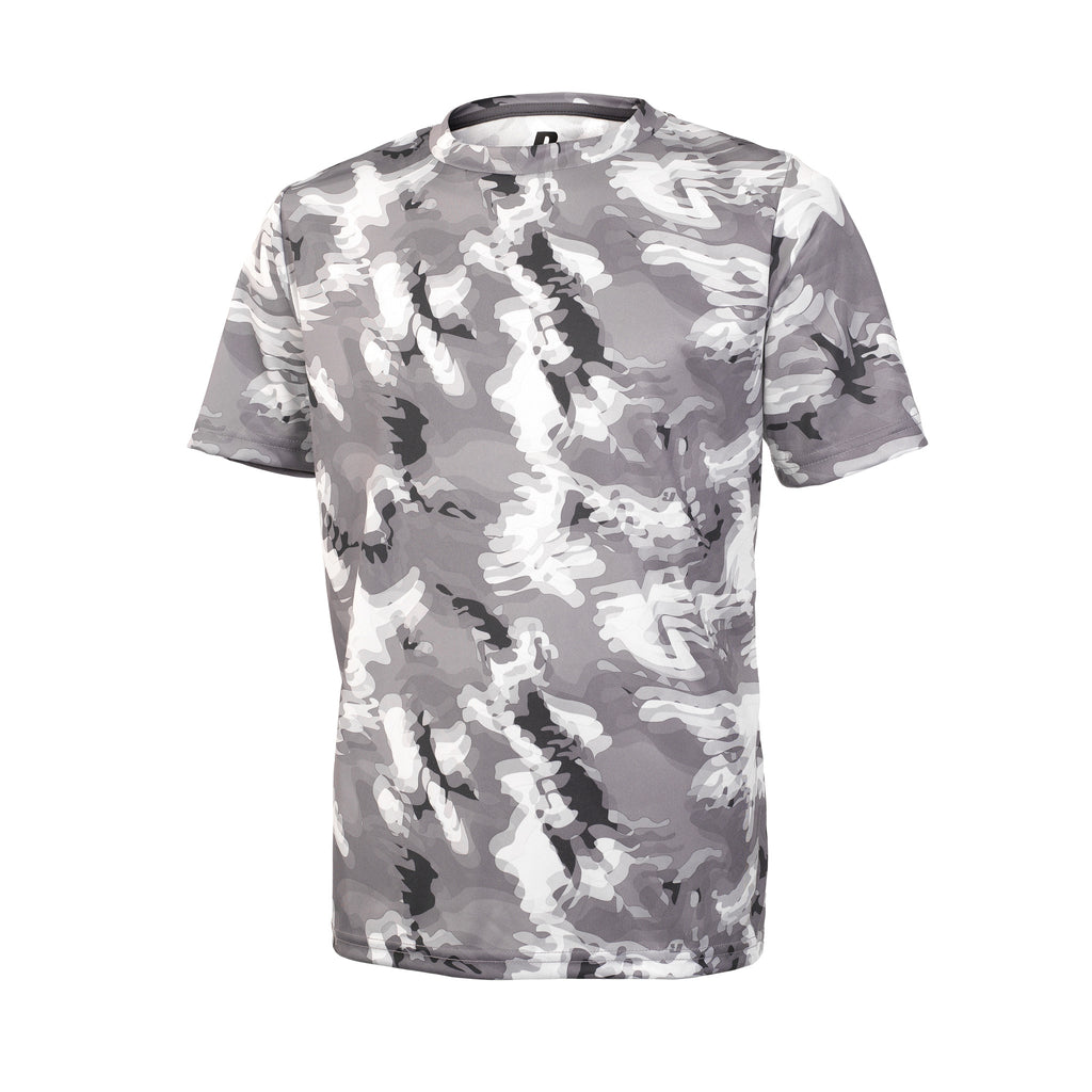Russell Athletic Youth Sublimated Camokaze Performance Tee - Black Camo Selected