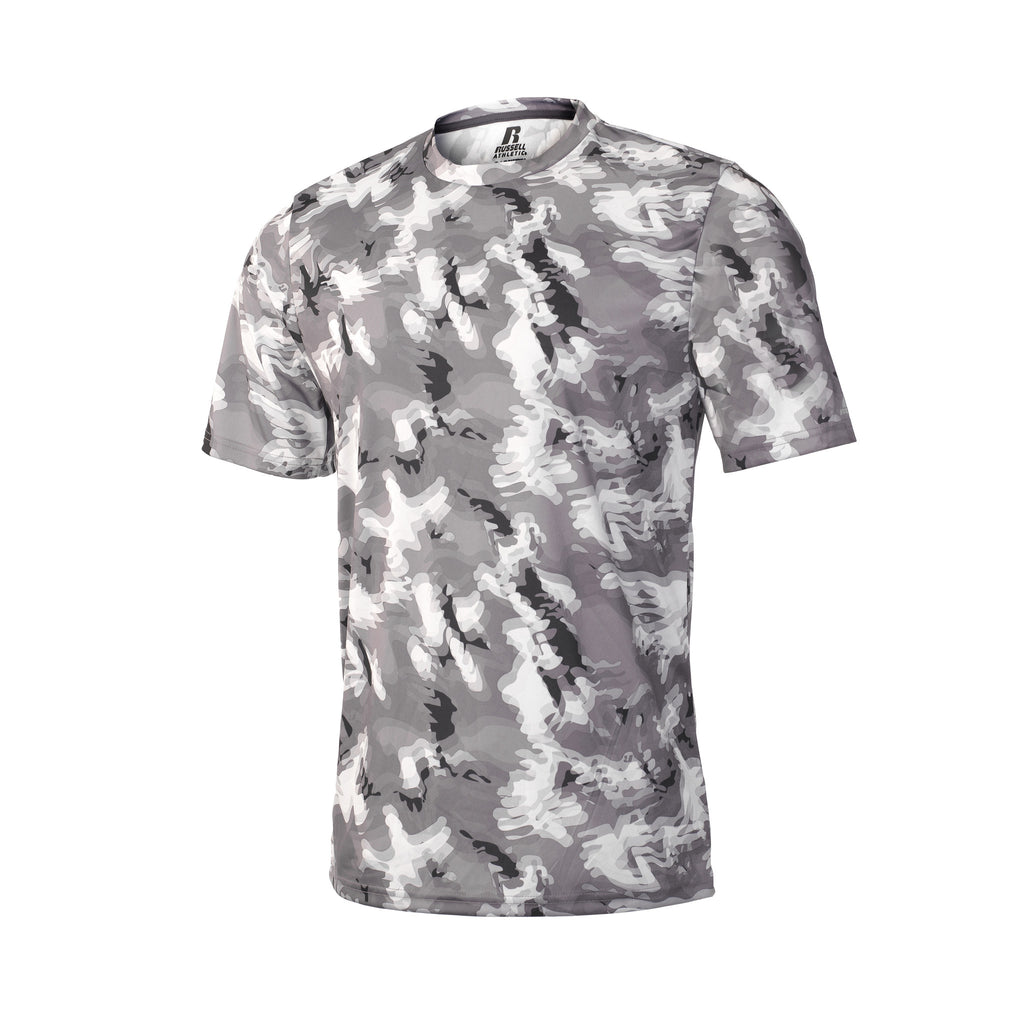 Russell Athletic Men's Sublimated Camokaze Performance Tee - Black Camo Selected