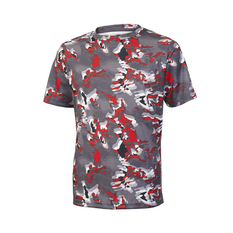 Russell Athletic Youth Sublimated Camokaze Performance Tee - True Red Camo