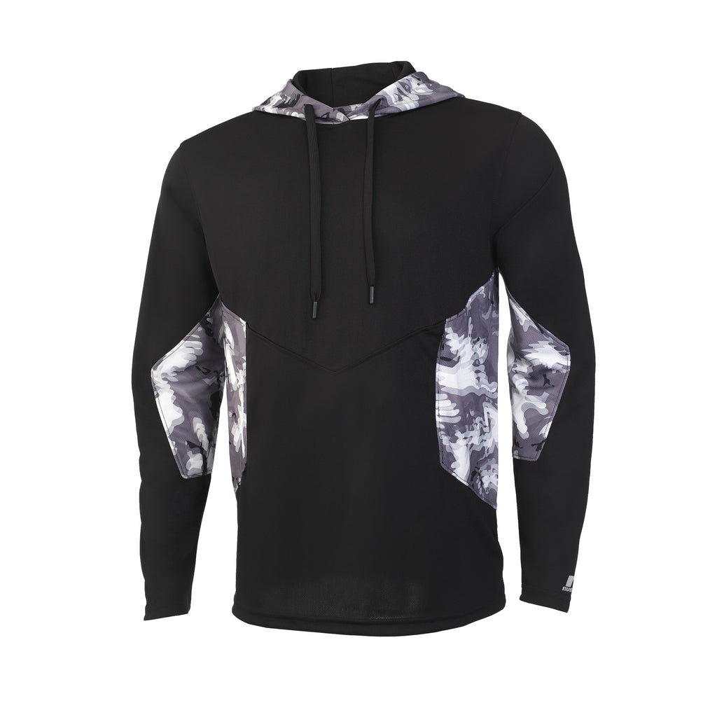 Russell Athletic Men's Sublimated Camokaze Pullover Hood - Black/Black Camo Selected