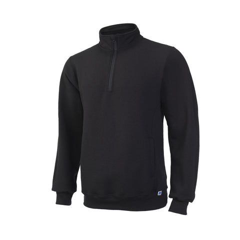 Russell Athletic Men's Dri-Power Fleece ¼ Zip Cadet - Black