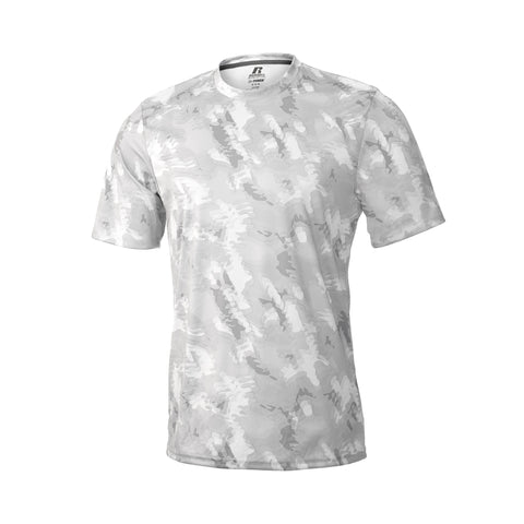 Russell Athletic Men's Sublimated Camokaze Performance Tee - White Camo