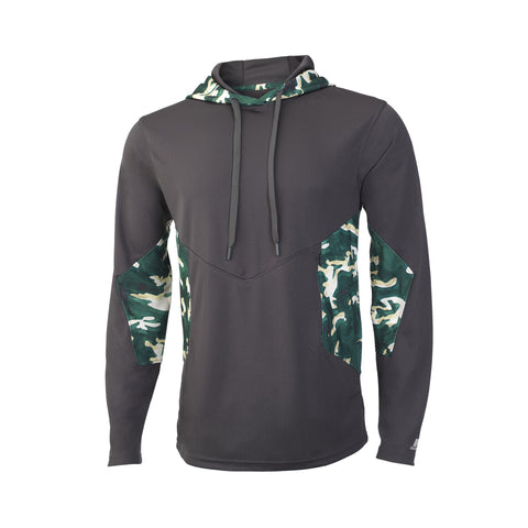 Russell Athletic Men's Sublimated Camokaze Pullover Hood - Stealth/Dark Green Camo
