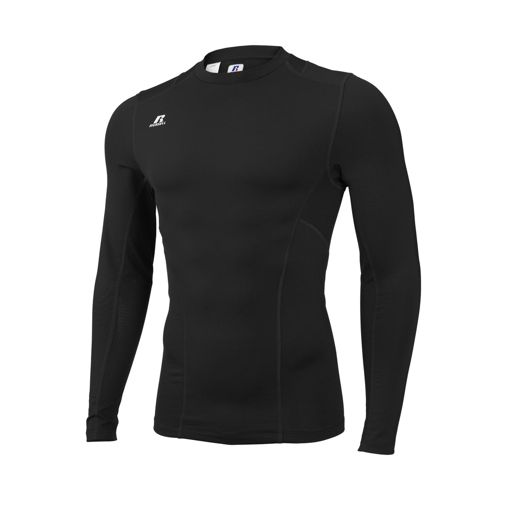 Russell Athletic Men's Tight-Fit Cold Weather Long Sleeve Crew - Black Selected