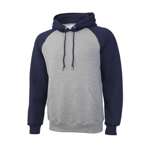 Russell Athletic Men's Fleece Colorblock Hood - Oxford/Navy