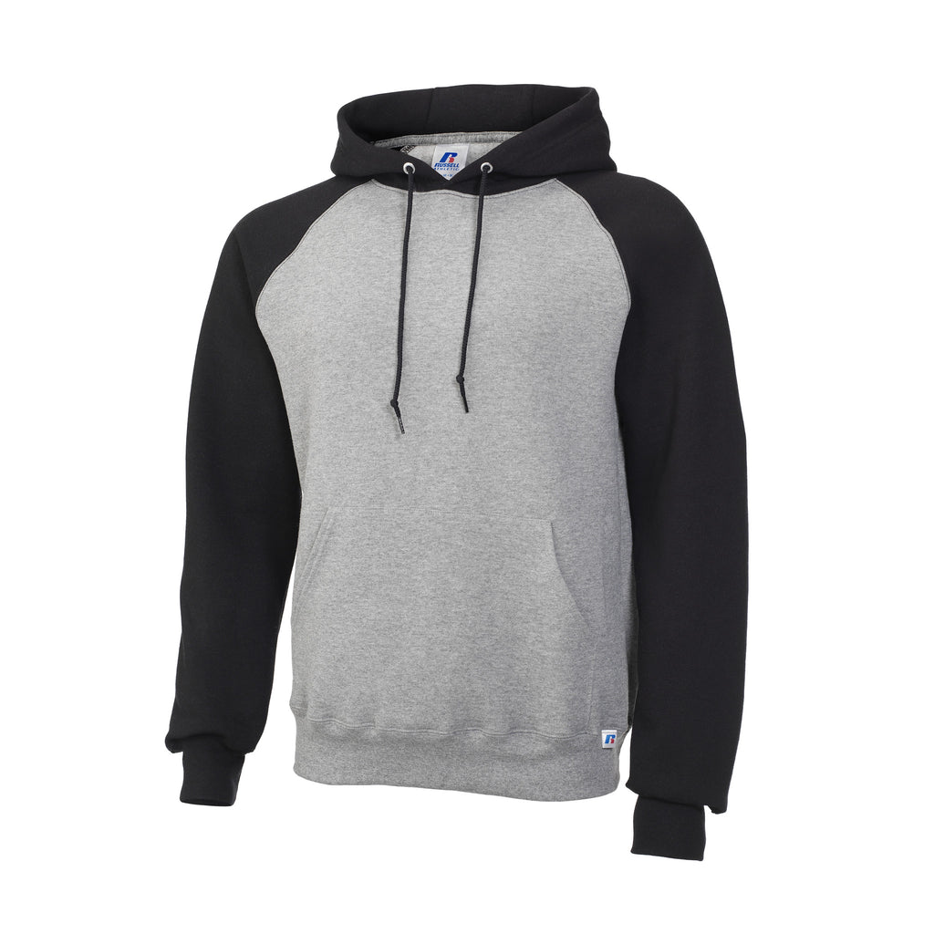 Russell Athletic Men's Fleece Colorblock Hood - Oxford/Black Selected