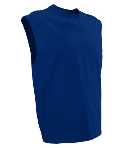 The Russell Athletic Men's Cotton Sleeveless Tee is an athletic staple for your workout wardrobe. Layer it or sport it by itself for complete range of movement.
