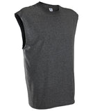 Russell Athletic Men's Athletic Sleeveless Tee - Black Heather