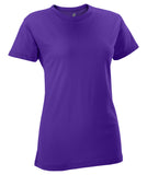 Russell Athletic Women's Campus Short Sleeve Tee - Purple