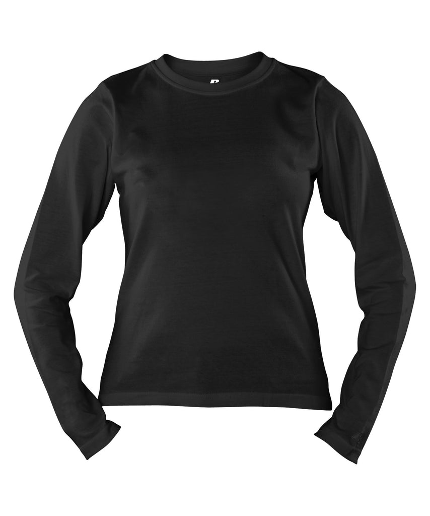Russell Athletic Women's Campus Long Sleeve Tee - Black Selected
