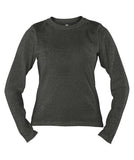 Russell Athletic Women's Campus Long Sleeve Tee - Black Heather