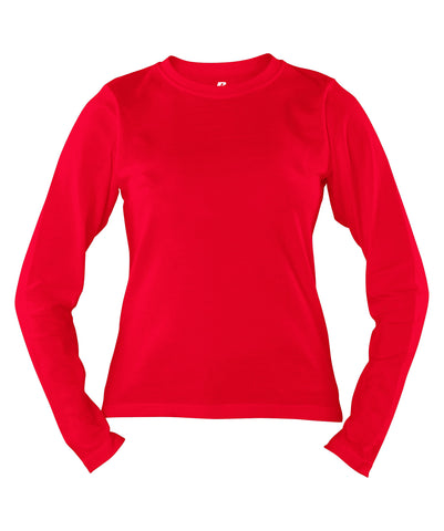 Russell Athletic Women's Campus Long Sleeve Tee - True Red