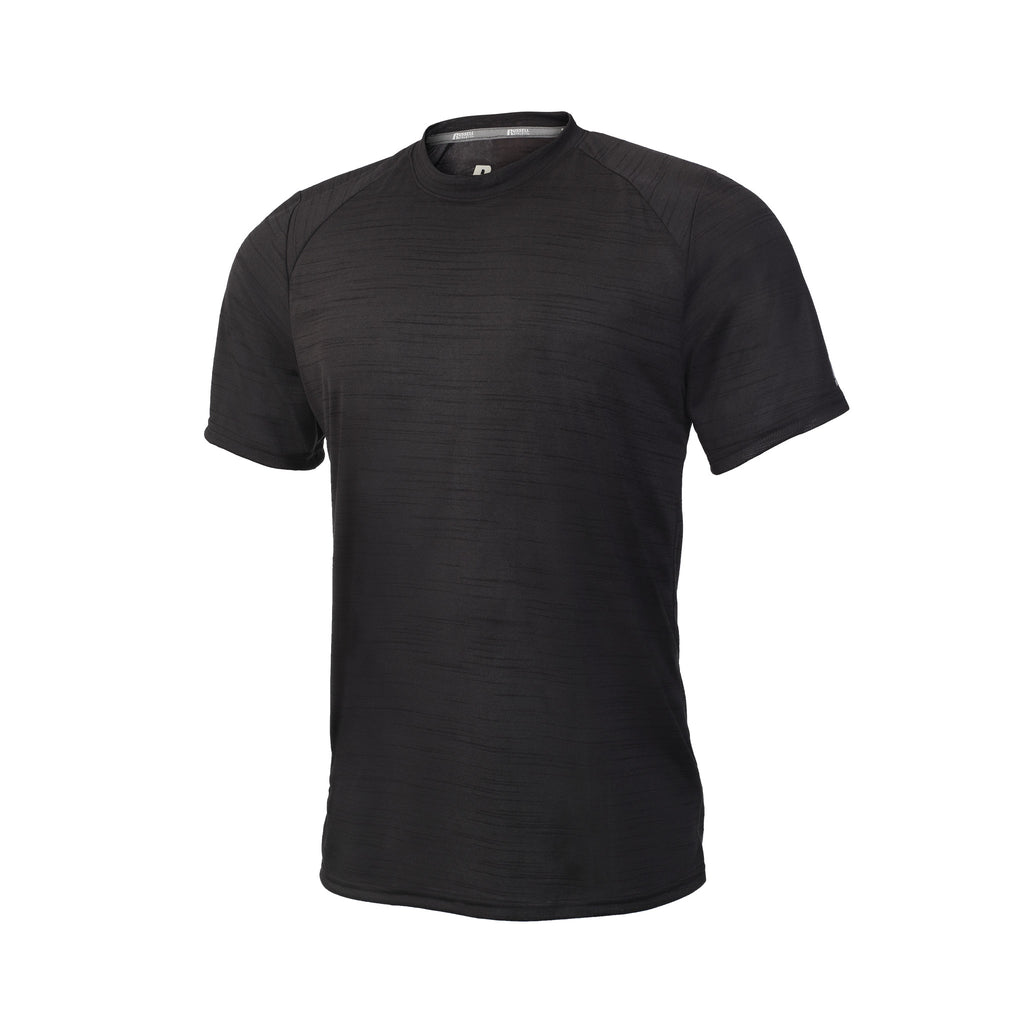 Russell Athletic Men's Striated Performance Tee - Black Selected