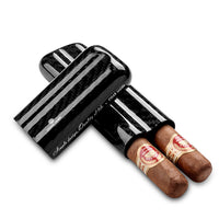Cigar Case - Carbon Fibre: Double - BOGMAR