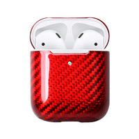 AirPods Case - Carbon Fibre: Gloss - Red - BOGMAR