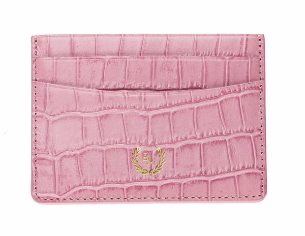 Credit Card Holder - Croco: Pink - Croco - BOGMAR