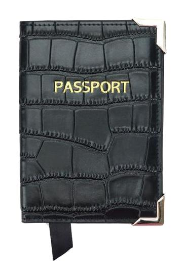 Passport Cover - Croco: Black - Croco - BOGMAR