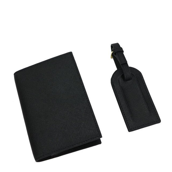 Passport & Luggage Tag - Saffiano: Black - Saffiano - BOGMAR